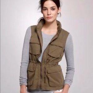 j crew classic twill chino womens vest